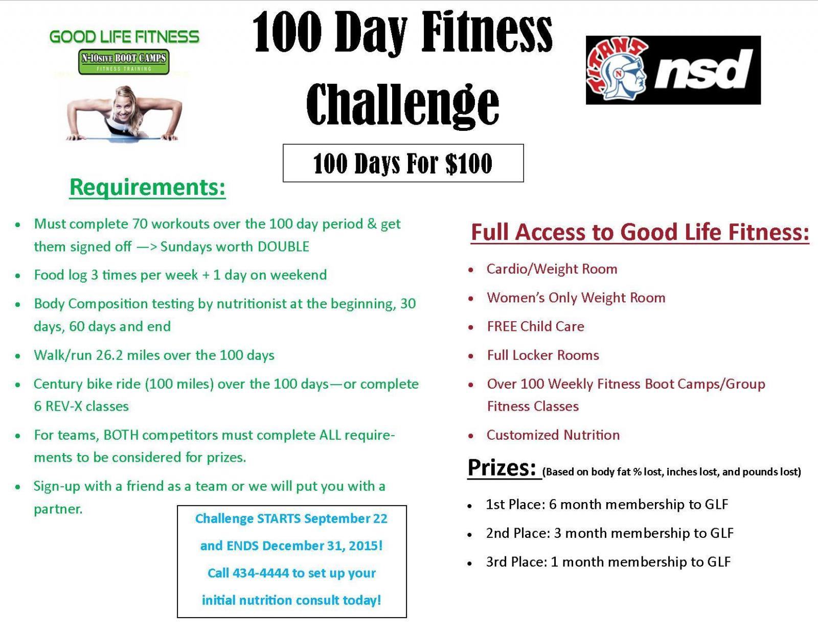 100 Day Fitness Challenge For Norris Community