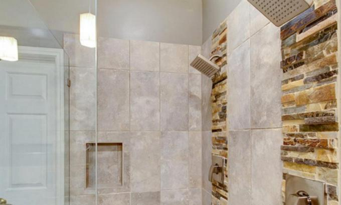 natural stone shower walls stacked