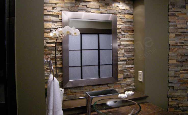 natural stacked stone backsplash tiles