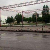 Se derrumba la estructura del Recinto Ferial en Tres Cantos