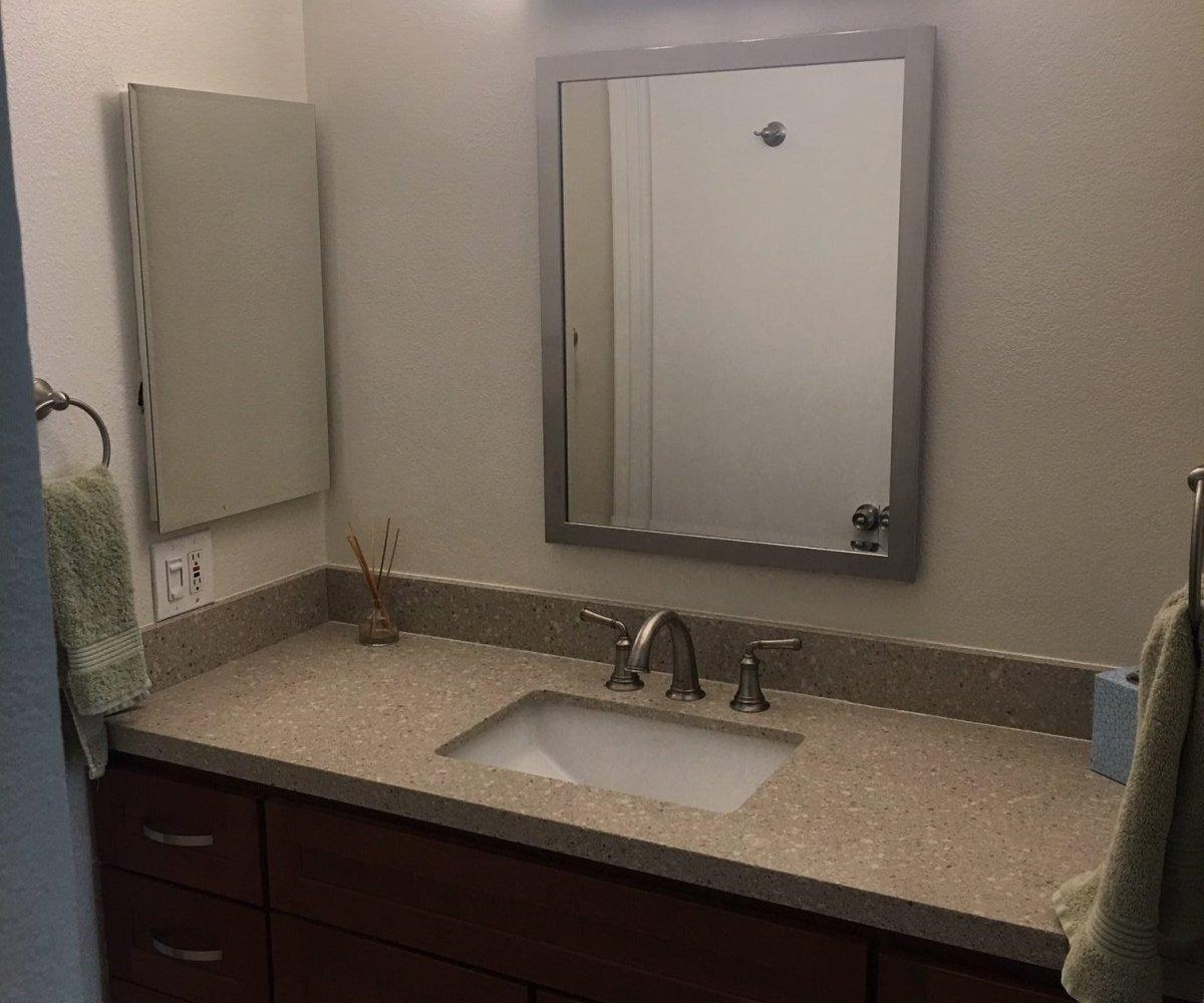Unit F-106 single sink vanity