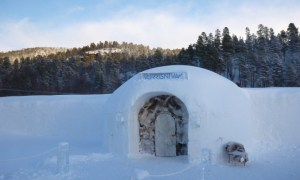Sorrisniva Igloo Hotel from the outside