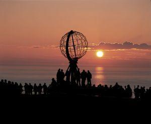 Midnight Sun at North Cape