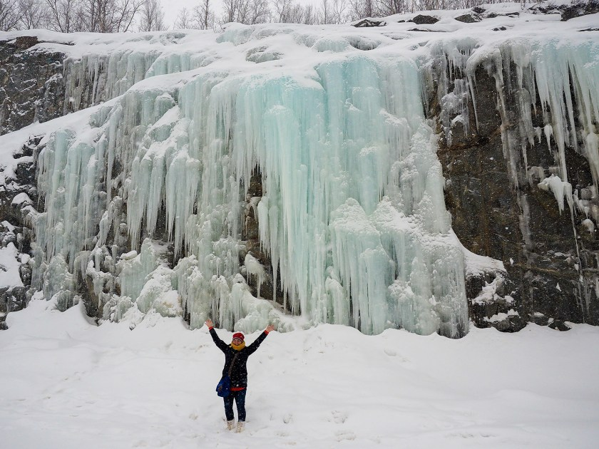 """From the blog """"A Dangerous Business"""" - ice waterfall near Kåfjord"""