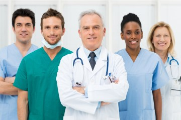group of doctors together