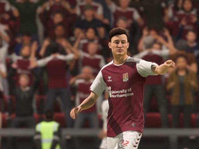 Cobblers player Scott Pollock from the FIFA video game
