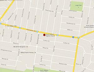 North Balwyn Baptist Church Map