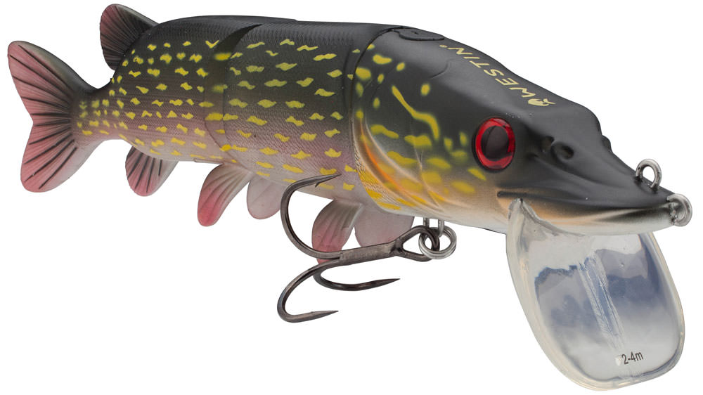 Holy grail of pike muskie lures westin mike the pike for Pike fishing lures