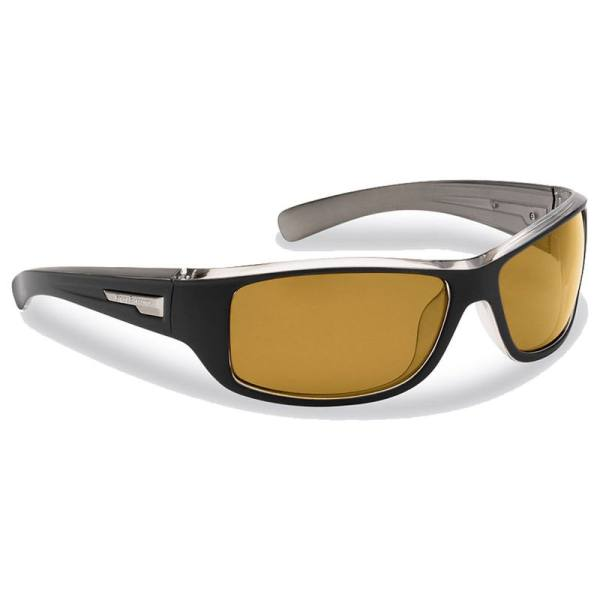Helm Sunglasses 7831BY - Matte Black & Gunmetal Frame, Yellow Amber Lenses