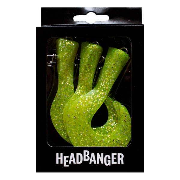 Headbanger Shad Replacement Tails - Chartreuse Color