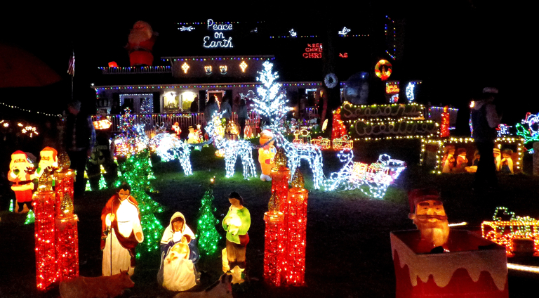 Image result for poulos christmas lights obx