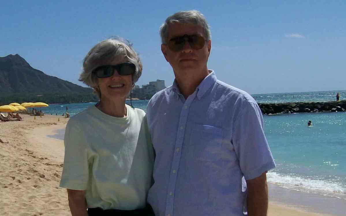 Joan and Bill McCormick on the beach in Hawaii, in 2009, several years after Bill's Alzheimer's diagnosis. Photo courtesy the McCormick family.