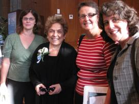 Shalala with midwives (l to r): L to R: Jenny Cox, Maureen Darcey, Suzanne Wertman