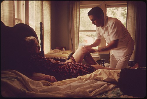 A Doctor from the Leakey, Texas, Area Visiting an Elderly Patient, near San Antonio