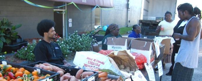 Inter-Faith Food Shuttle mobile market.