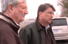 DENR Secretary John Skvarla and Gov. Pat McCrory toured the site of the coal ash pond near Eden, N.C. where a pipe ruptured Sunday, spilling hundreds of thousands of gallons of ash into the Dan River. Photo courtesy