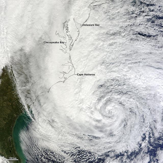 Image of Hurricane Sandy on Oct. 28, 2012 courtesy NASA Goddard Space Flight Center