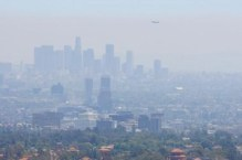 The skyline of Los Angeles, whose smog is partially a result of the city's large dependence on car commuting. Photo courtesy U.S. EPA