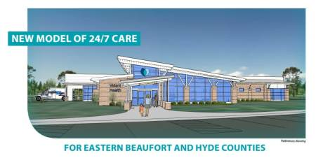 An artist's rendering of the new facility Vidant intends to build in Belhaven.