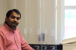 Milind Khire, an engineering researcher at UNCC who focuses on coal ash. Photo credit: Gabe Rivin