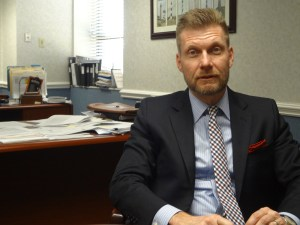 Lee Isley is CEO of Granville Health System in rural Granville County. Photo credit: Taylor Sisk