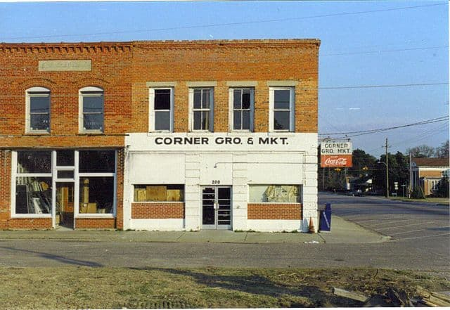 A showing the decay of downtown Parkton, North Carolina. This town like many others in Eastern North Carolina is a shadow of its former self. Reasons for the decay, the loss of textile mill jobs and dramatic downturn in tobacco farming. Photo courtesy: Gerry Din