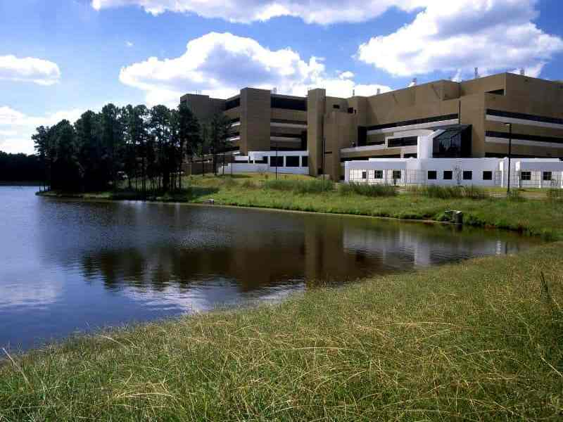 NIEHS' campus in Research Triangle Park.