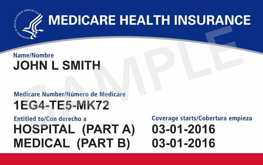 image of the new medicare cards, with a unique identifier number on it.