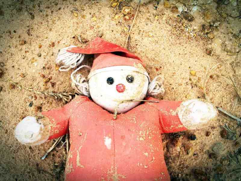Abandoned child's toy, child welfare failure