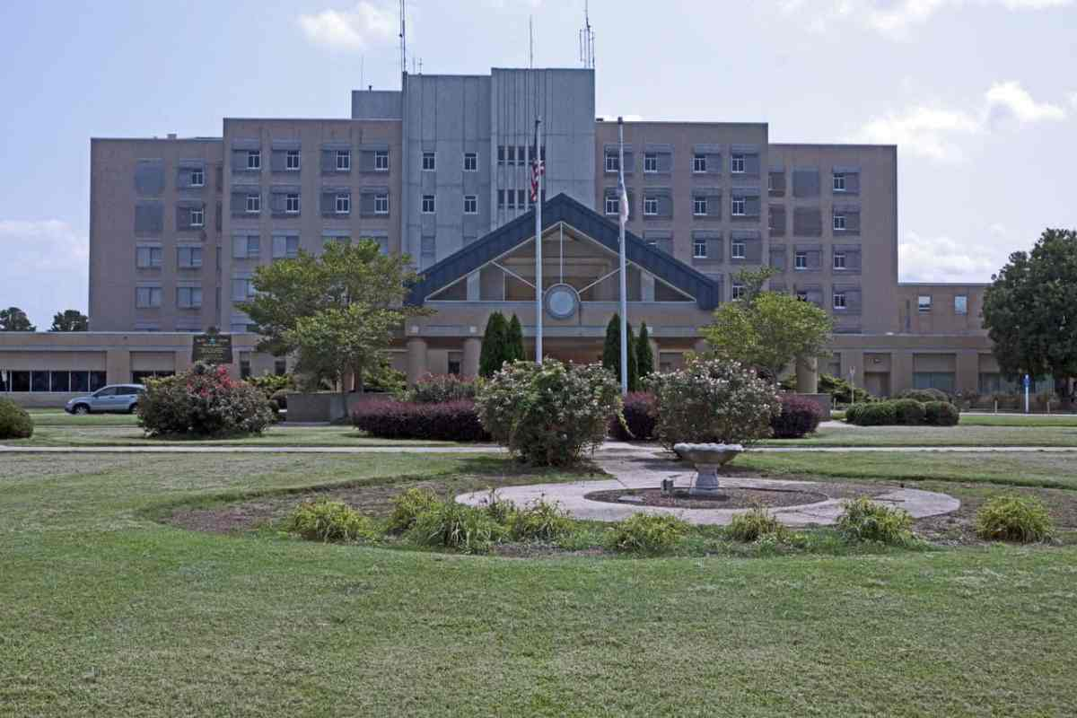 shows a large building, one of 8 rural hospitals being acquired by a private equity firm. This one is located in Wilson, North Carolina