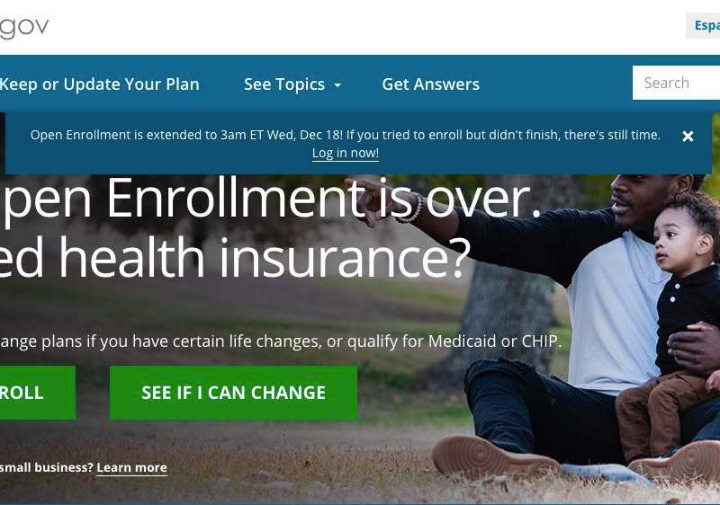 Because of website glitches, the ACA open enrollment was extended