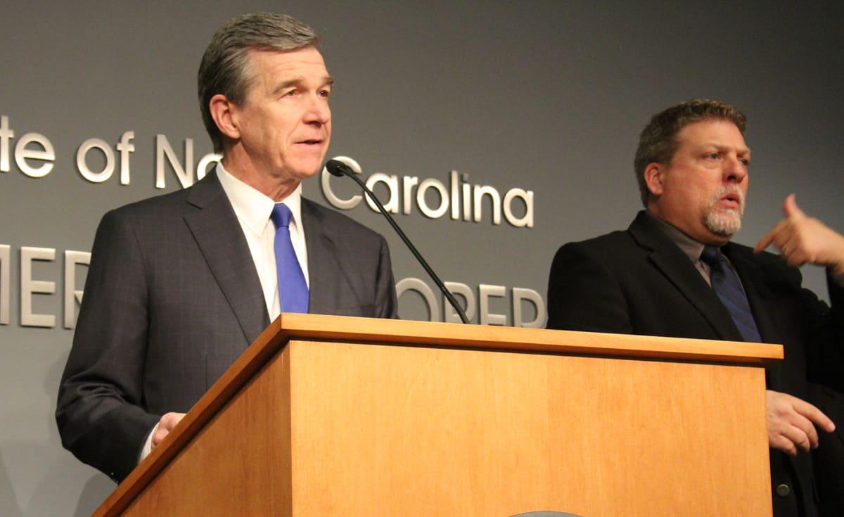 Gov. Cooper at a COVID-19, also known as Coronavirus, press conference