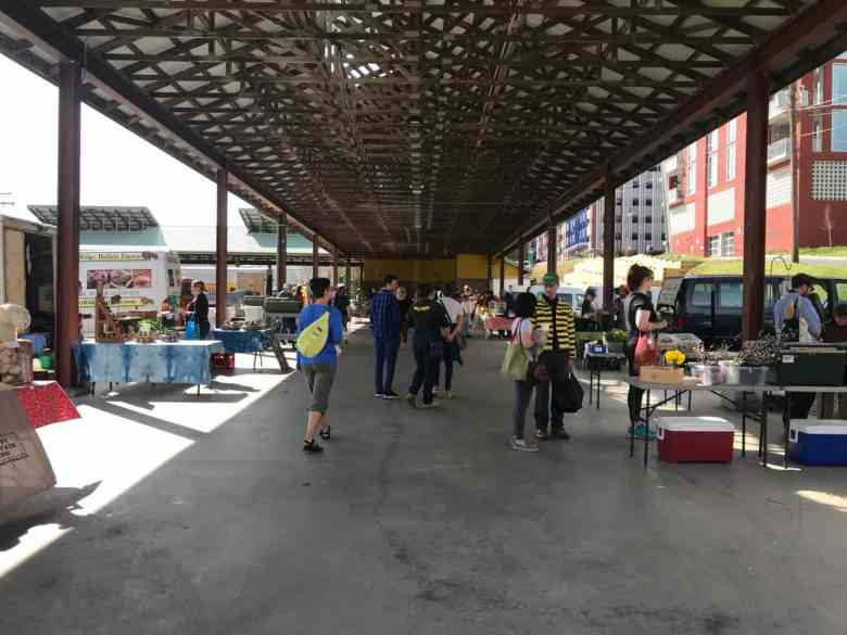 fewer people attended the Durham farmers market as a result of COVID-19 restrictions