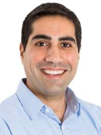 A headshot of Amir Barzin who is part of the coronavirus drive-thru test site in Chapel Hill.