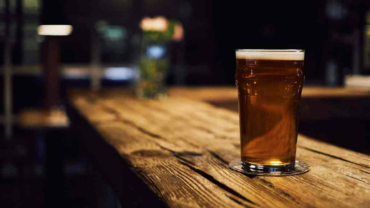 shows a beer in a brewery, some of which are opening back up after the COVID-19 stay at home order