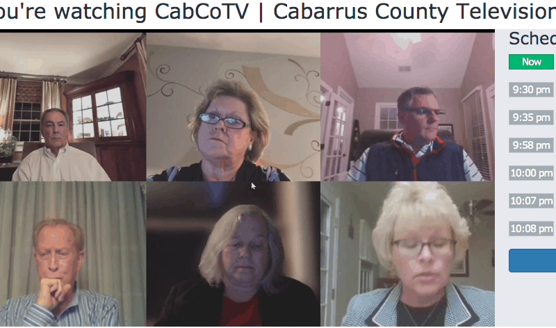 shows a video conferencing call with six people who were talking about Cardinal Innovations