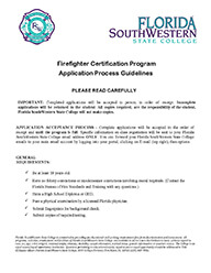 Firefighter Certification Program Application Process Guidelines PDF