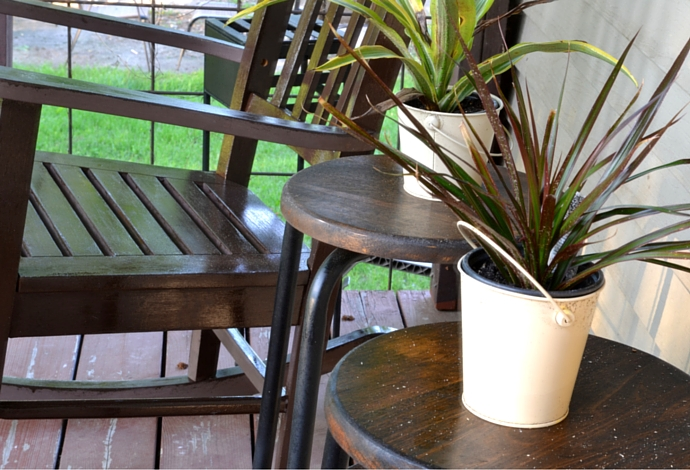 side tables with plants