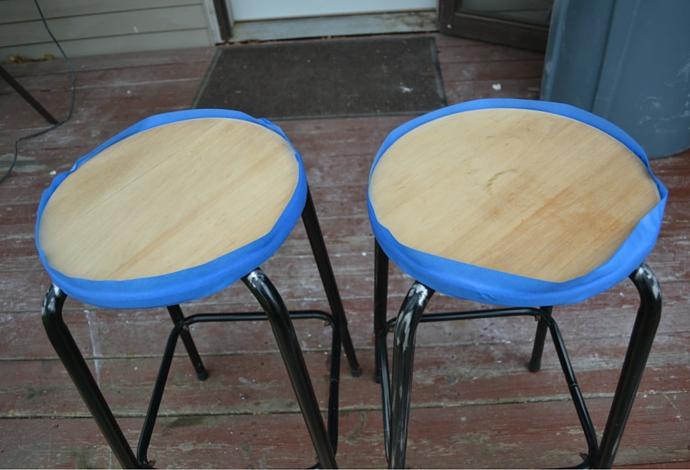 sanded bar stool