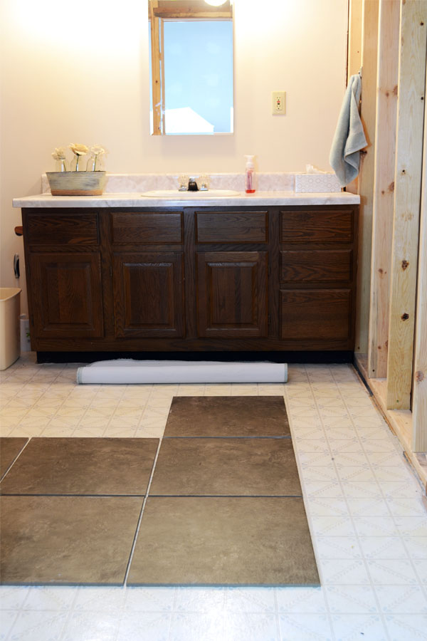 guest bathroom tile