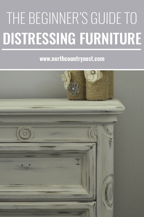 tutorial on how to distress furniture