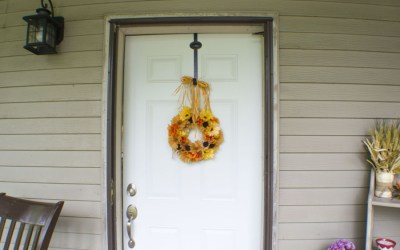 Five Step DIY Dollar Store Fall Wreath