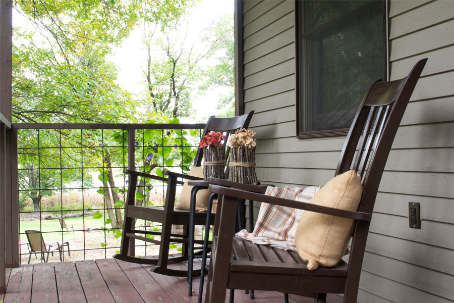 fall front porch rocking chairs