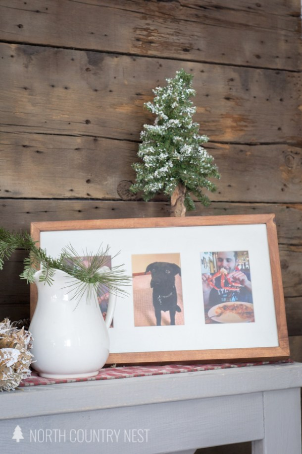 rustic holiday entryway home tour