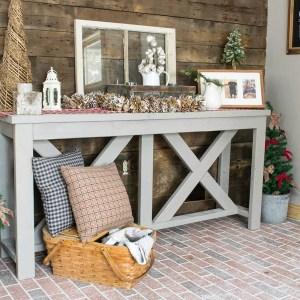 Entryway Farmhouse Table Christmas Decor