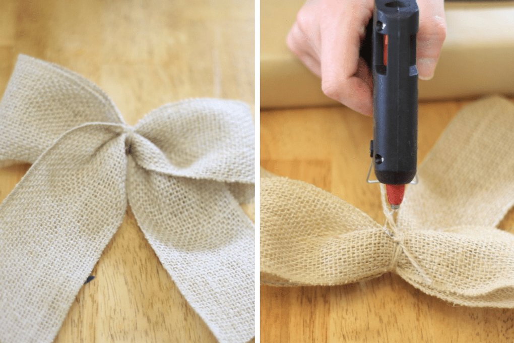 Gift Wrapping with Burlap RIbbon