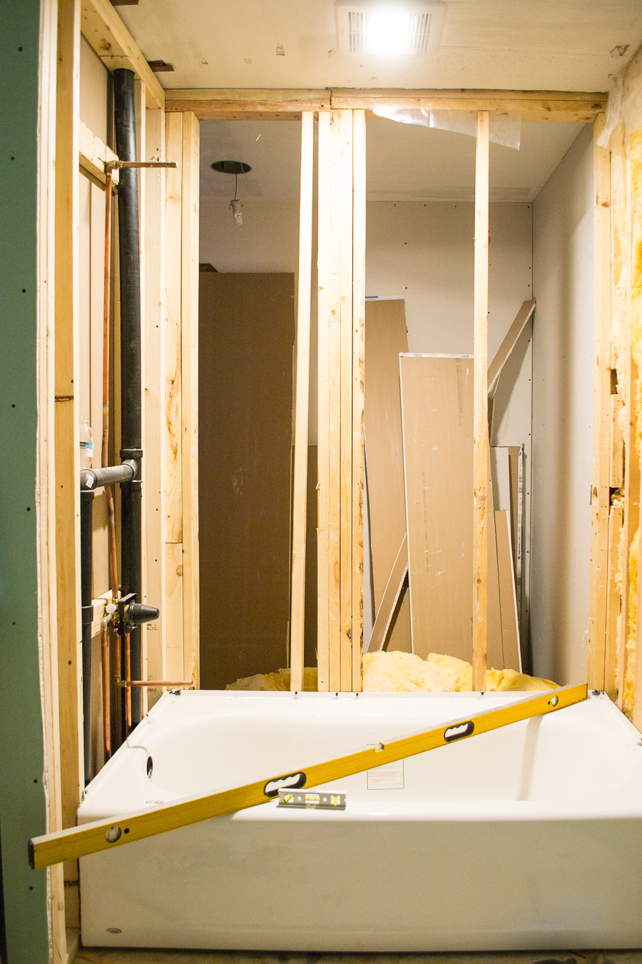 guest bathroom construction
