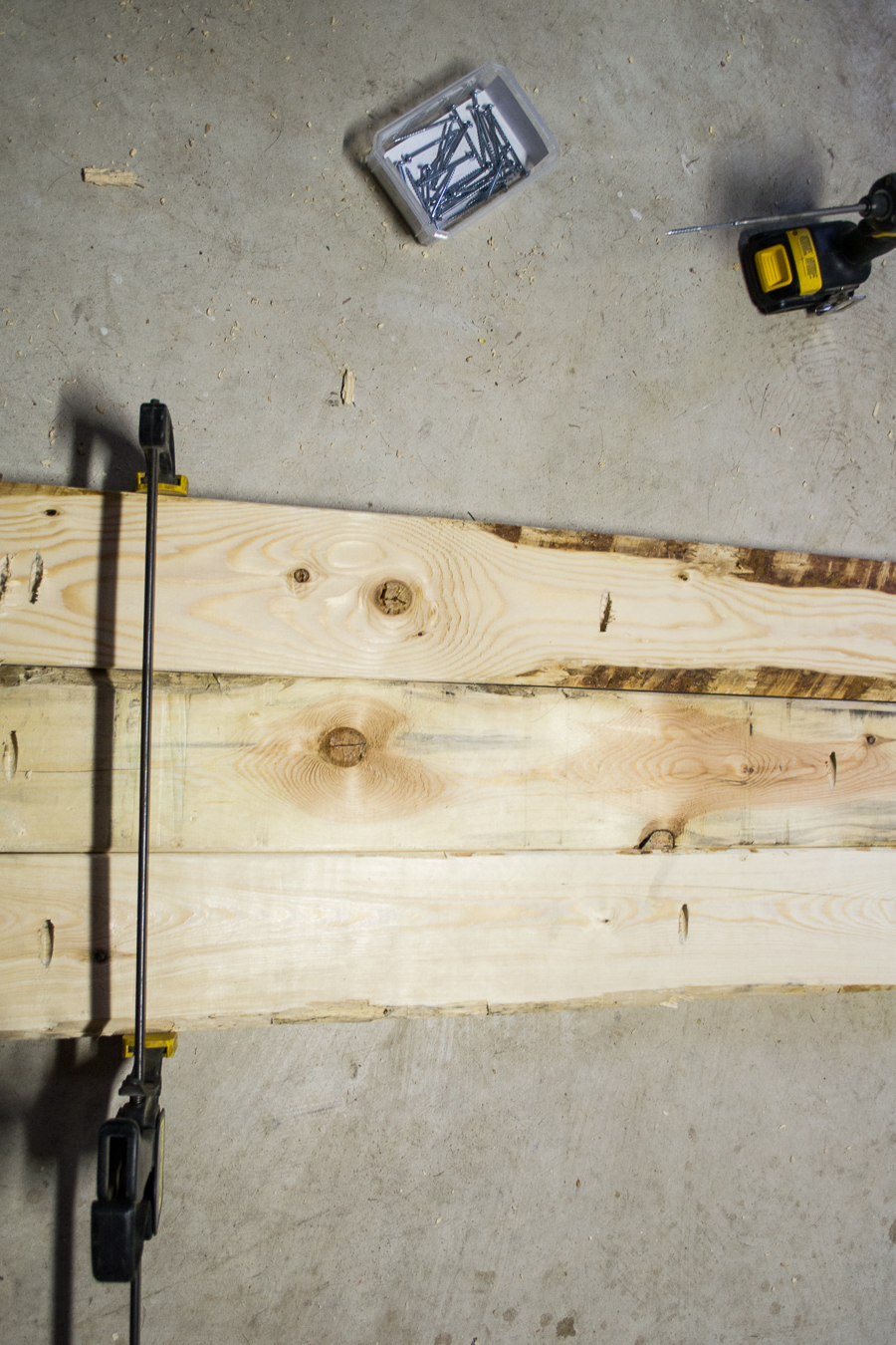 Wood Plank and Industrial Piping Table