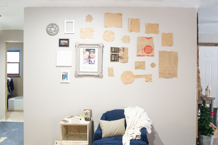 step five how to hang a gallery wall in five steps