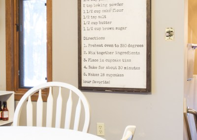 DIY Rustic Recipe Board
